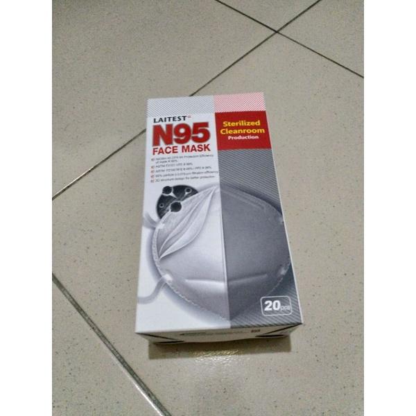萊潔 LAITEST N95防護口罩-白-20入盒裝