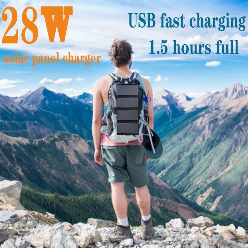 【現貨免運】sunpower太陽能折疊板28W太陽能折疊包戶外光伏充電便攜太陽能包