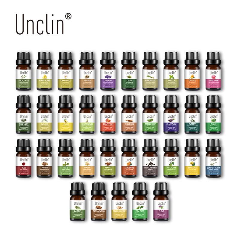 UNCLIN精油10ML 按摩精油 香薰精油 植物保濕 滋養護膚單方精油