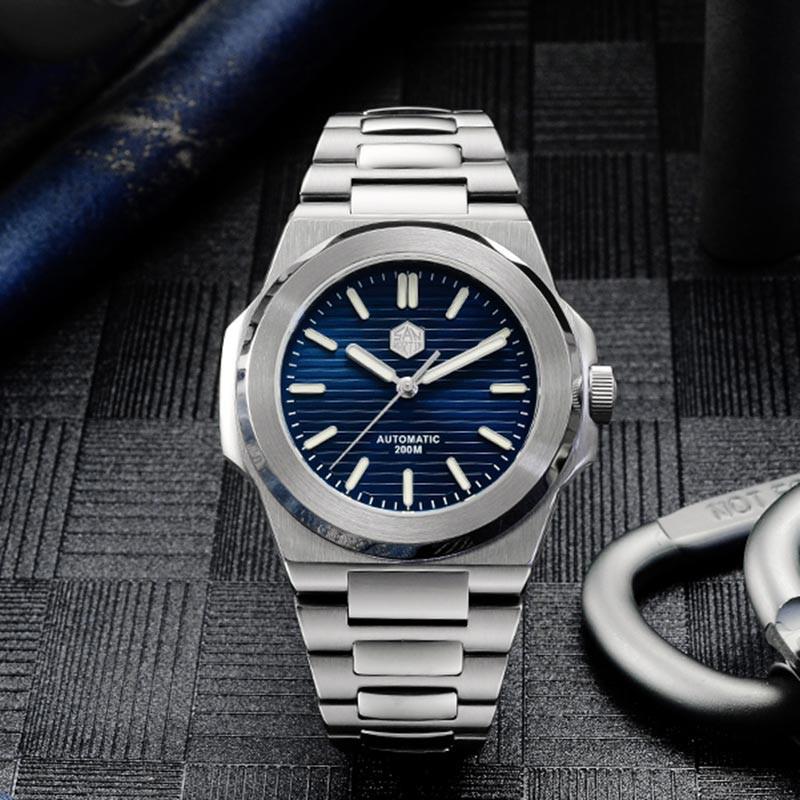 san martin 聖馬丁 機械錶 全金屬潛水錶 鸚鵡螺