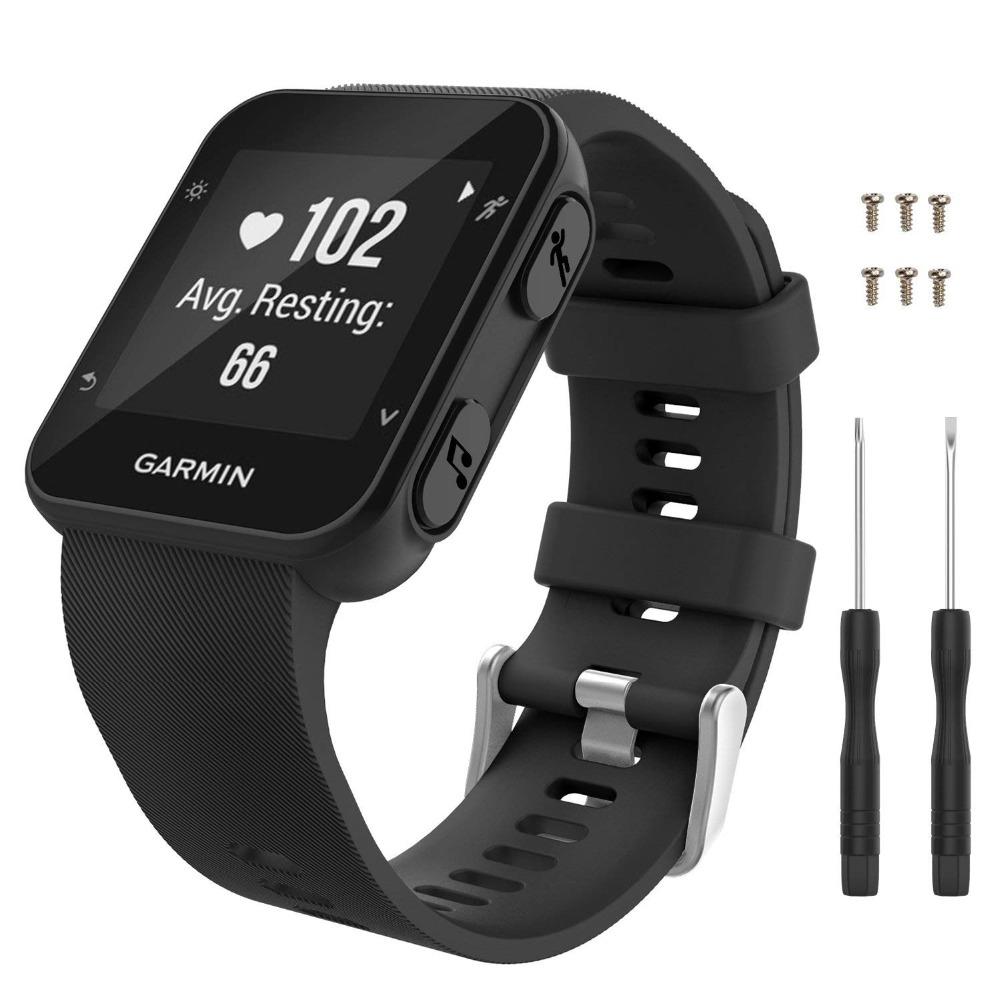 佳明Garmin Forerunner35矽膠錶帶 F35官方同款運動款矽膠錶帶