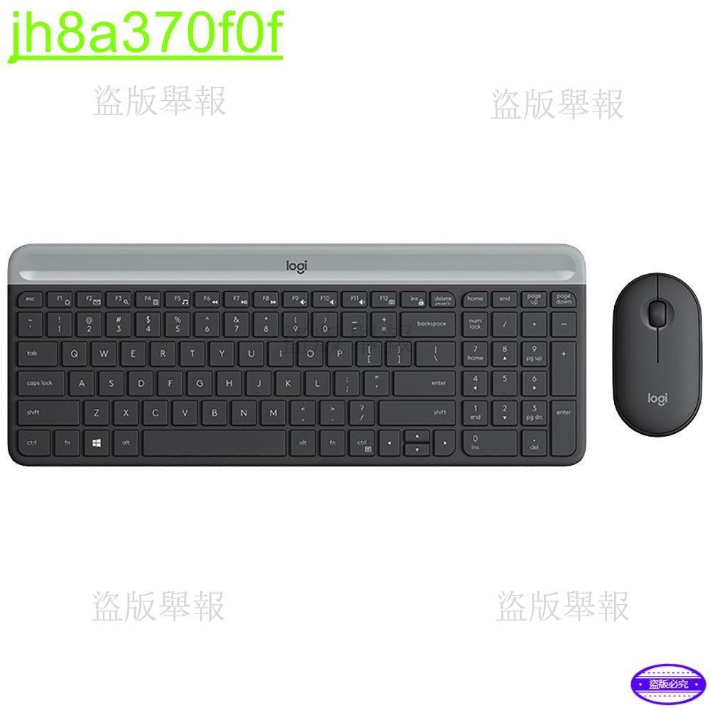 羅技(Logitech)MK470無線鍵鼠套裝 全尺寸超薄 無線2.4G接收器