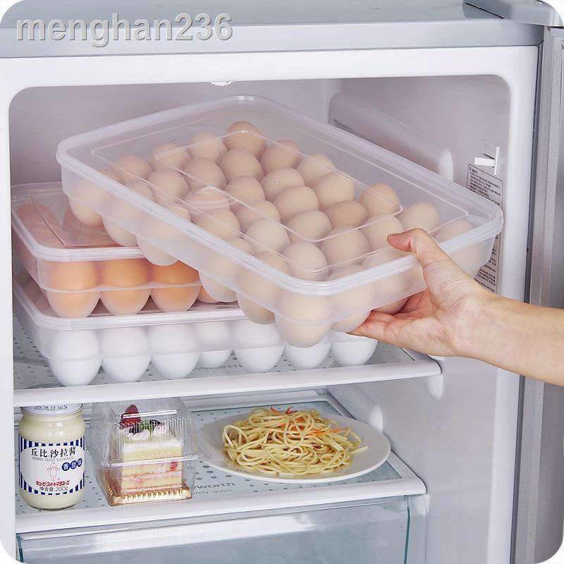 現貨速發✆☁大容量塑料鴨蛋收納盒廚房保鮮盒 冰箱雞蛋托雞蛋盒放雞蛋的架子