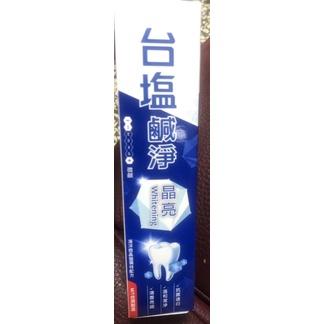 股東會紀念品-台鹽生技-台鹽鹹淨晶亮牙膏150g