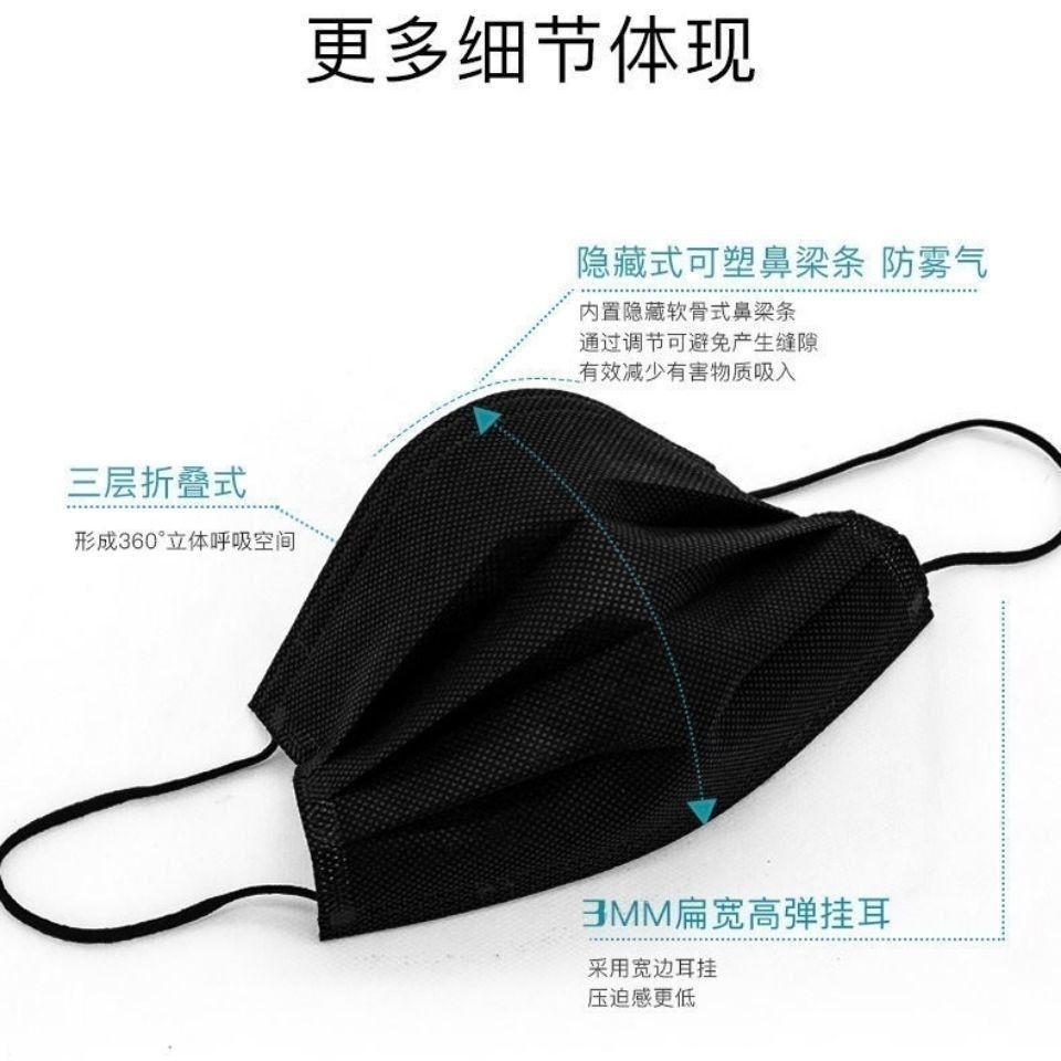 🔥現貨+預購+免運🔥 一次性口罩 黑色口罩 拋棄式口罩 進口口罩 熔噴布口罩 成人口罩 防塵 50只裝 醫療級別