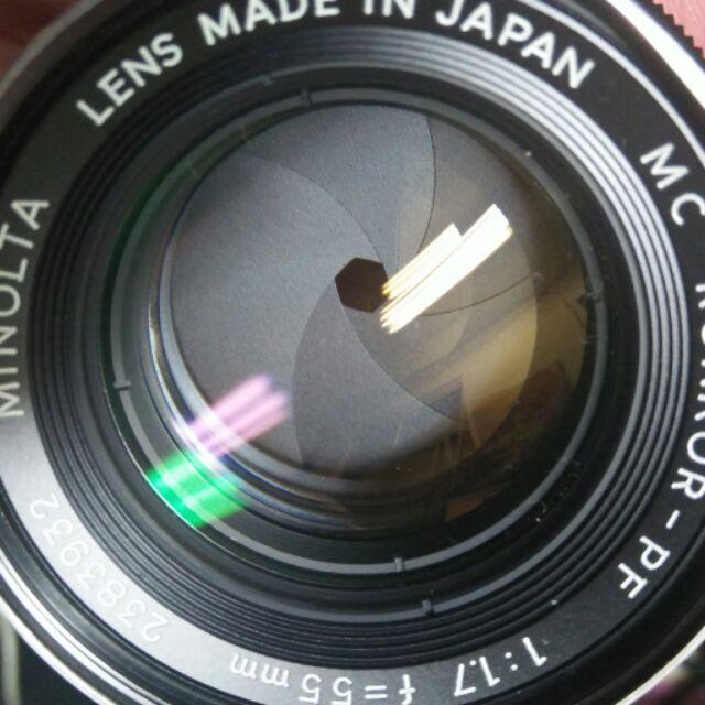 鏡頭 minolta 55 f1.7  50mm f1.4 mc 手動 美品