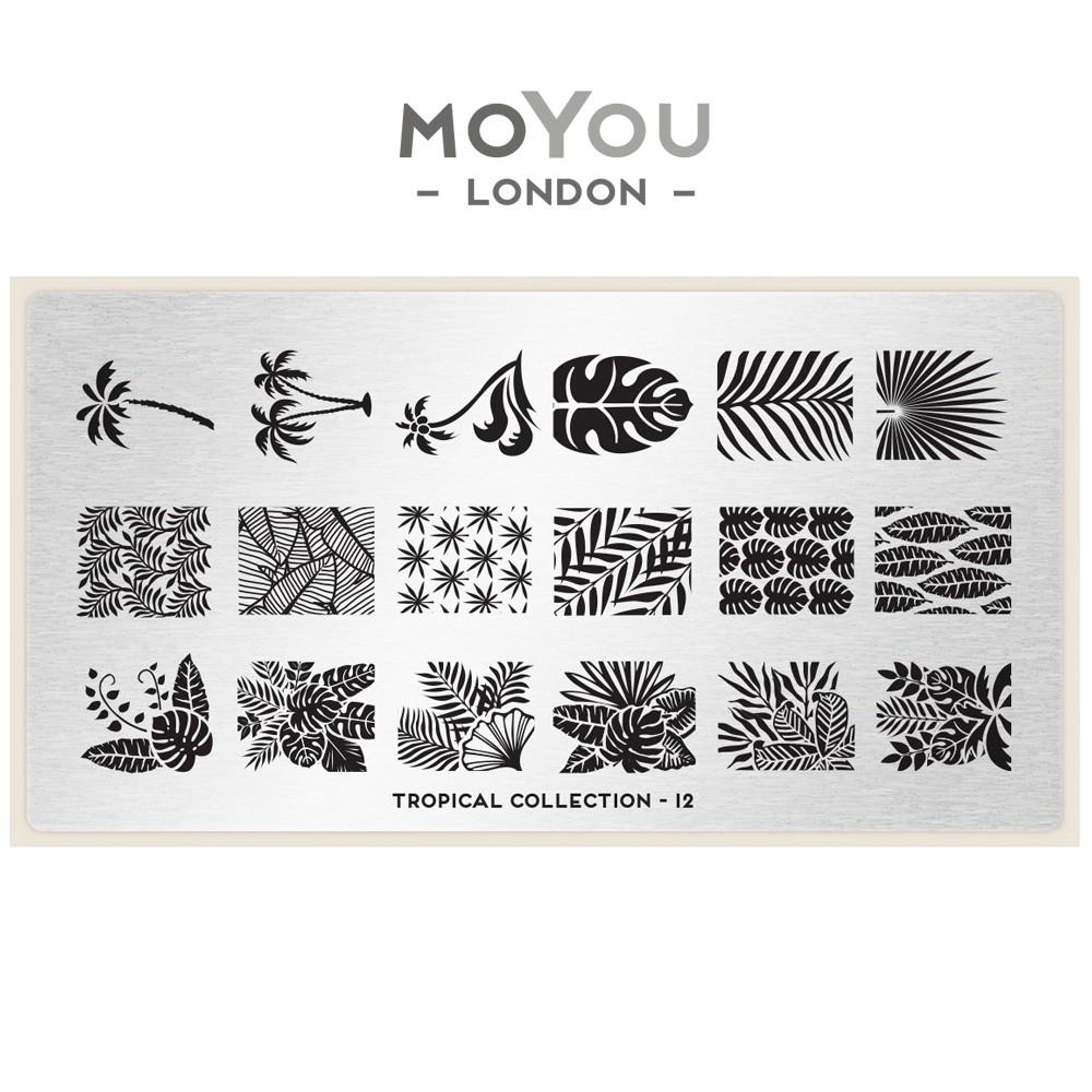 MoYou 指彩印花鋼板 美甲 轉印鋼板 NO96熱帶風情Tropical12椰林大道