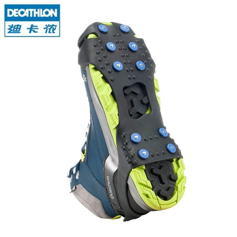 迪卡儂 冰爪戶外登山防滑鞋套釣魚雪地冰面防滑冰爪 優選