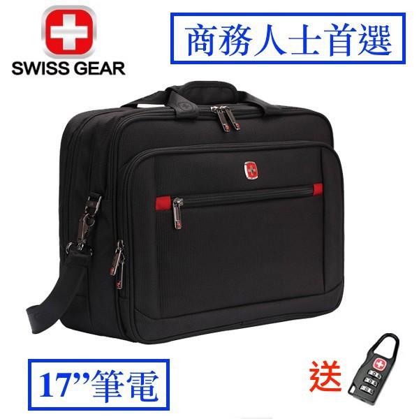 17吋 大容量 SWISSGEAR 瑞士 軍刀 防水 手提包 出國 旅遊 電腦包 筆電包  旅行 商務 拉桿包 出差