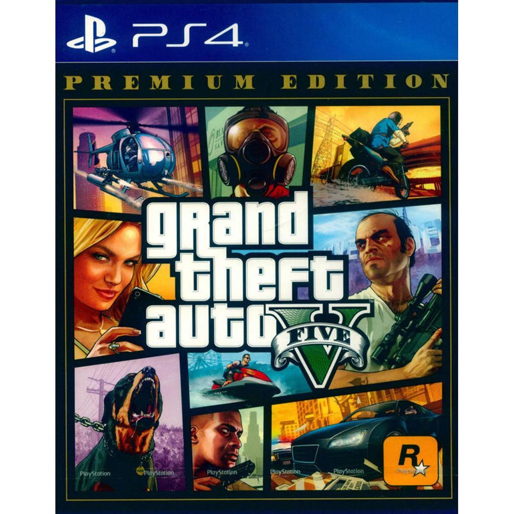 PS4原版片 俠盜獵車手5 GTA5 豪華線上版 完整版 中文版全新品【特價優惠】台中星光電玩
