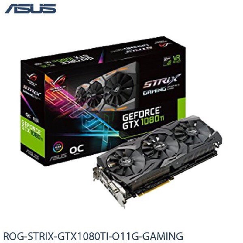 Asus rog strix gtx1080ti o11g gaming