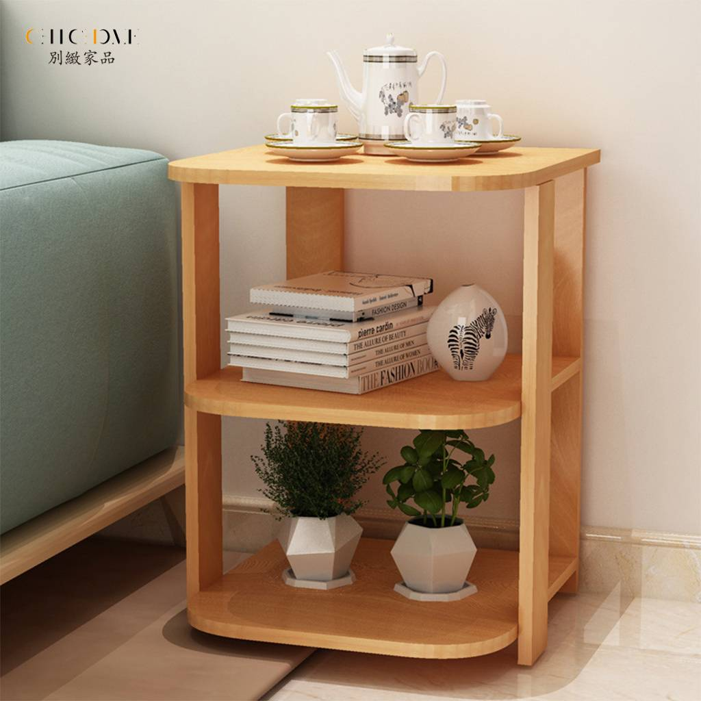 簡約家居 沙發邊幾 沙發邊桌 客廳臥室置物架 收納層架 客廳茶桌 小茶几 小方几 臥室床邊櫃子 小戶型方形桌子