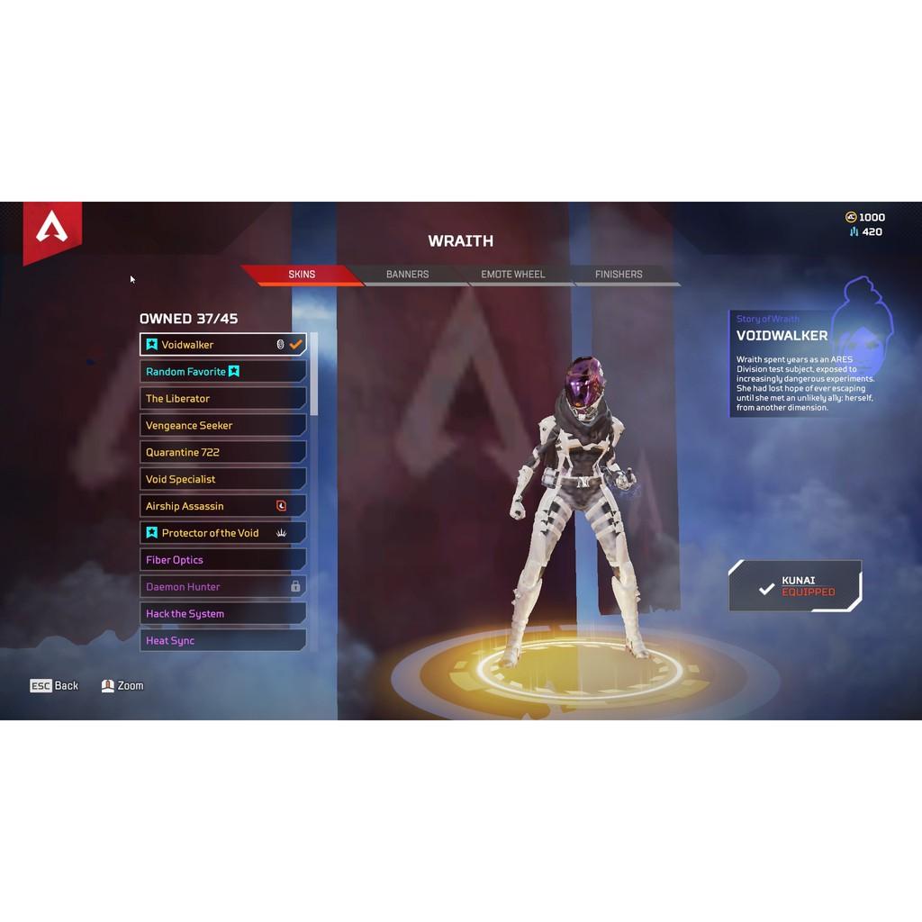 🌟Joseph喬瑟夫APEX Legends英雄🌟惡靈傳家寶 虛空行者 白色頭盔 保證超值