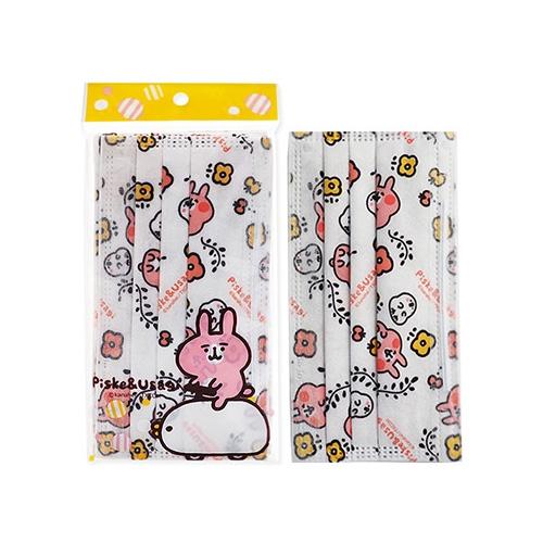 卡娜赫拉的小動物 拋棄式防塵口罩-成人白(5片裝)【小三美日】D790523