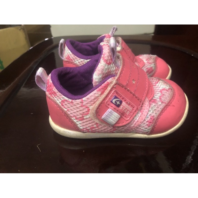 Moonstar 粉色學步鞋13號
