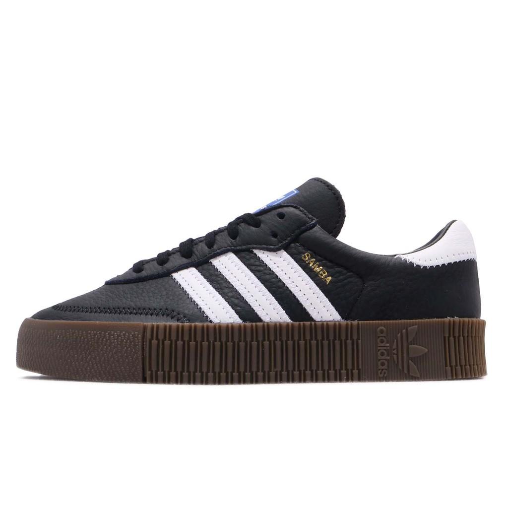 adidas 休閒鞋 Sambarose W 黑 白 女鞋 B28156 【ACS】