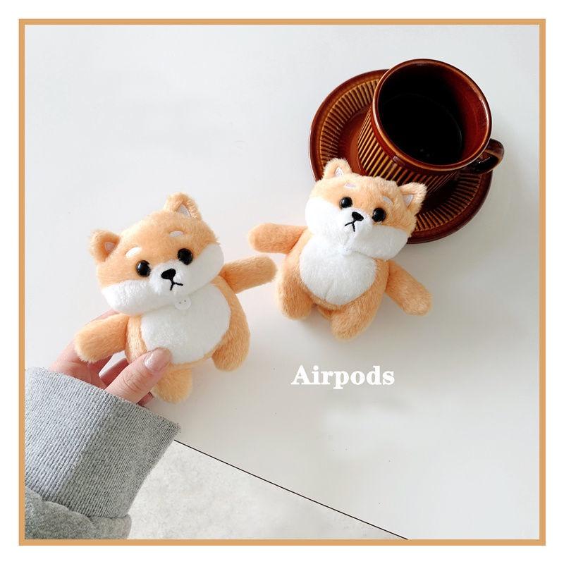 【新款】毛絨柴犬招財狗airpods12保護套軟硅膠蘋果pro3代無線藍牙耳機套