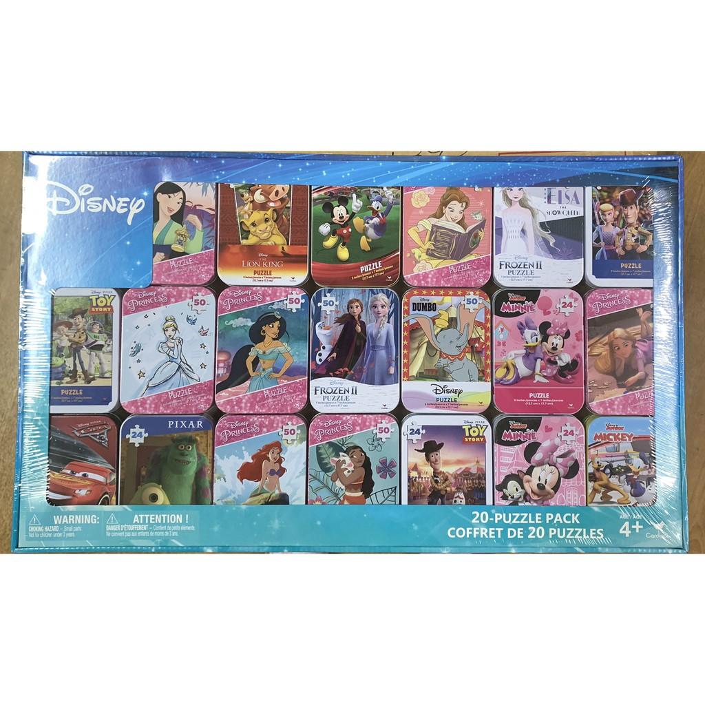 ⭕ 現貨⭕ 2020日本好市多限定 迪士尼 迷你鐵盒小拼圖 20入 聖誕節禮物