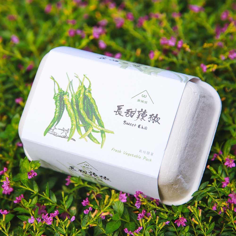 【青菜笠】雞蛋環保植栽盒-長甜辣椒