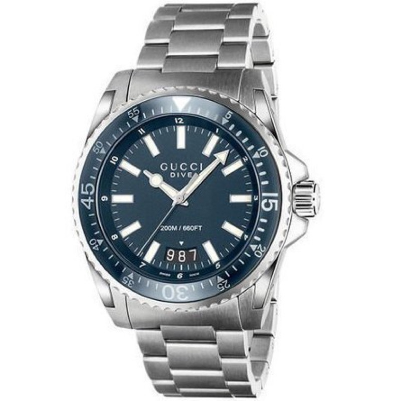 GUCCI 古馳手錶水鬼 鐵錶石英錶代購預購正品 YA136203