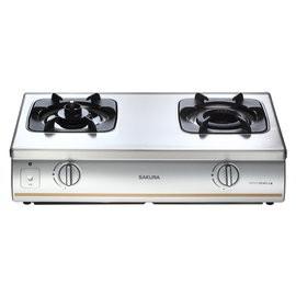 櫻花牌 防乾燒 雙口台爐 傳統式瓦斯爐 G5703S