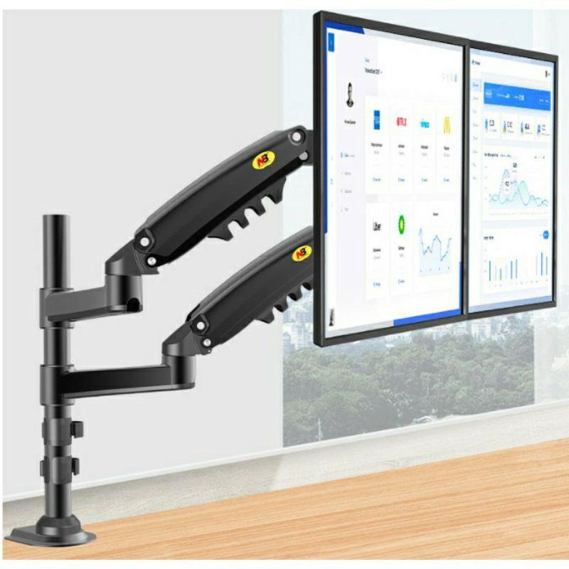 【祥禾科技】台灣現貨 NB H160雙屏電腦顯示器支架上下疊加疊拼屏幕托架增高支臂17-27寸