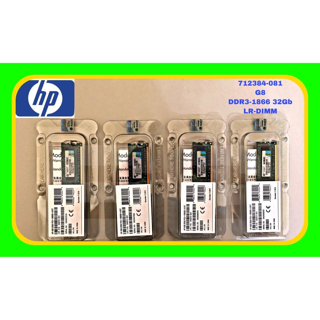 全新盒裝 HP G8 DDR3-1866 32Gb LR-DIMM 708643-B21 712384-081