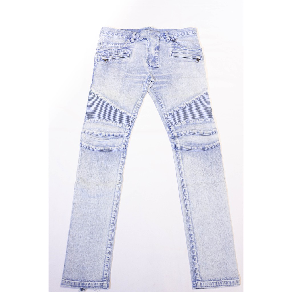 Balmain Skinny Biker Jeans.機車丹寧褲