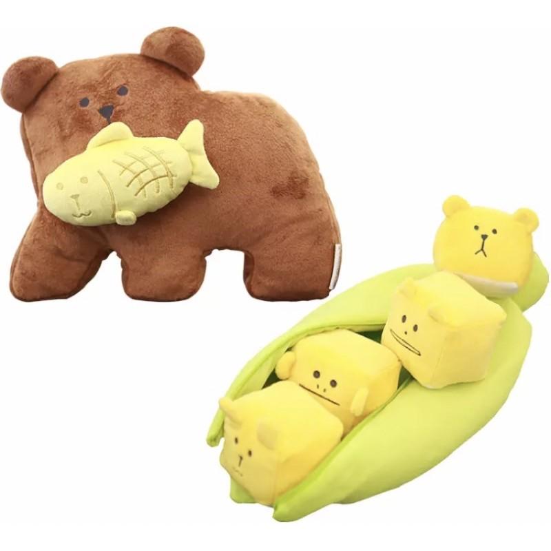 CRAFTHOLIC 宇宙人 熊咬鯛魚 玉米 日本 北海道 抱枕 靠枕 玩偶 娃娃 craftholic