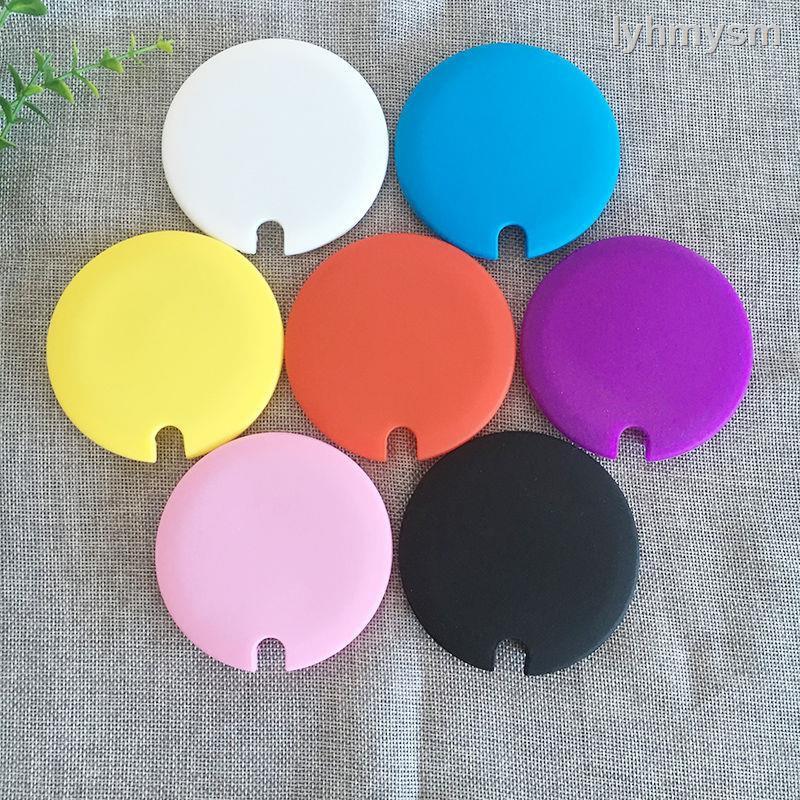 1.30▥✎✣創意帶孔硅膠杯蓋食品級硅膠材料無毒環保變色杯專用蓋子硅膠蓋