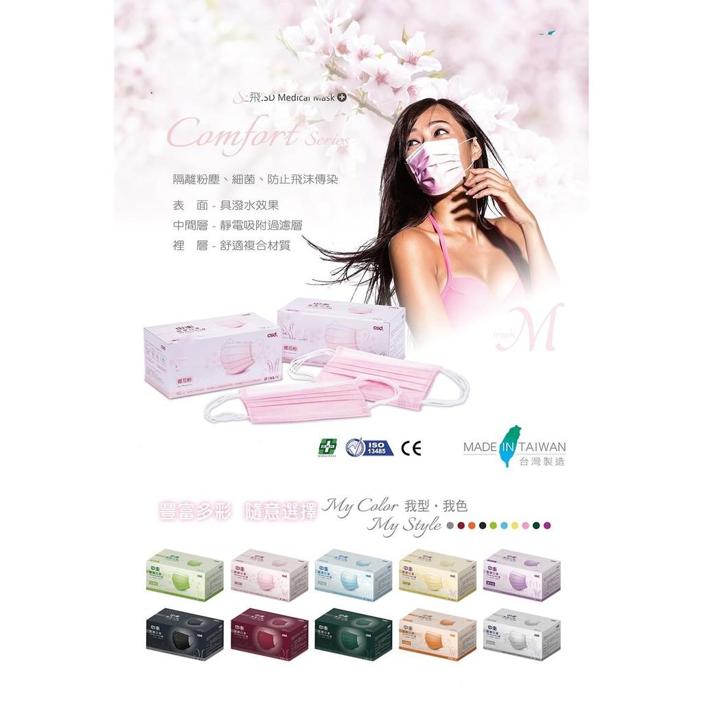 中衛櫻花粉盒裝50入   成人平面口罩