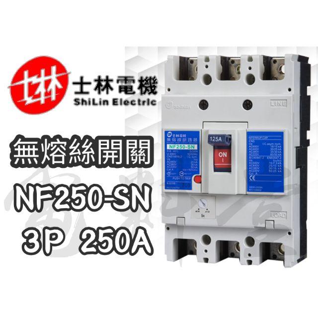 【附發票 公司貨 保固一年】士林電機 NF250-SN 2P 3P 150A 200A 250A 無熔絲開關 斷路器