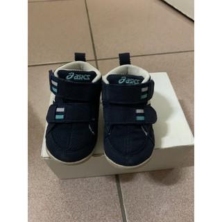 二手 亞瑟士Asics 深藍色 高筒 童鞋 學步鞋鞋子,尺寸12.5 臺南市