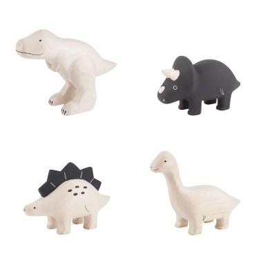 [偶拾小巷] 日本 T-Lab 手刻原木小動物 恐龍系列