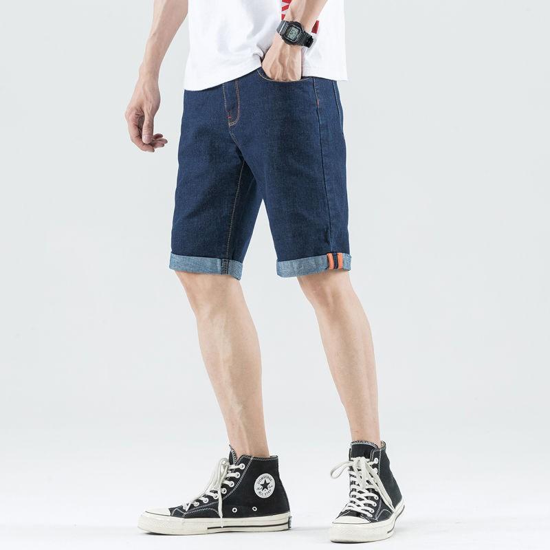 【ffw】牛仔短褲男夏季薄款直筒寬松休閑五分中褲韓版潮百搭5分牛仔男褲