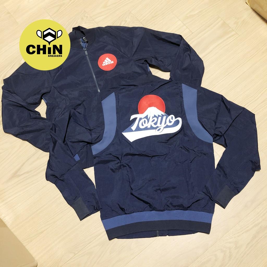 ☆CHIN代購☆ Adidas Sports VRCT 棒球外套 東京 富士山 TOKYO 藍色 FI4030 現貨