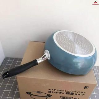 日本深煎鍋麥飯石紋不粘鍋26CM炒鍋湯鍋寶寶輔食鍋烘焙電磁爐 - Cherry