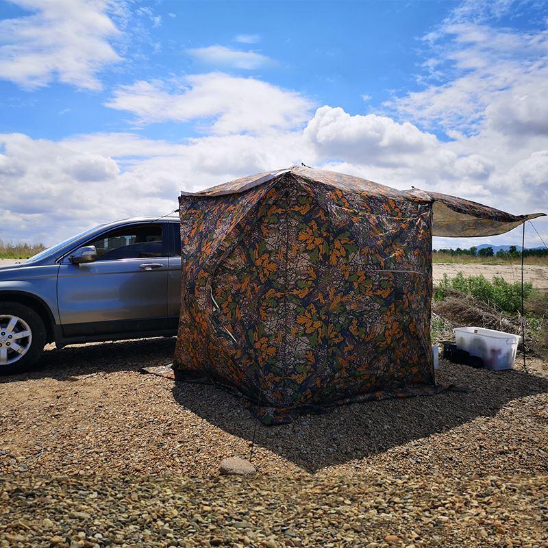 现货戶外車尾延伸帳篷自駕遊車邊天幕車載多功能自動速開露營車頂側帳