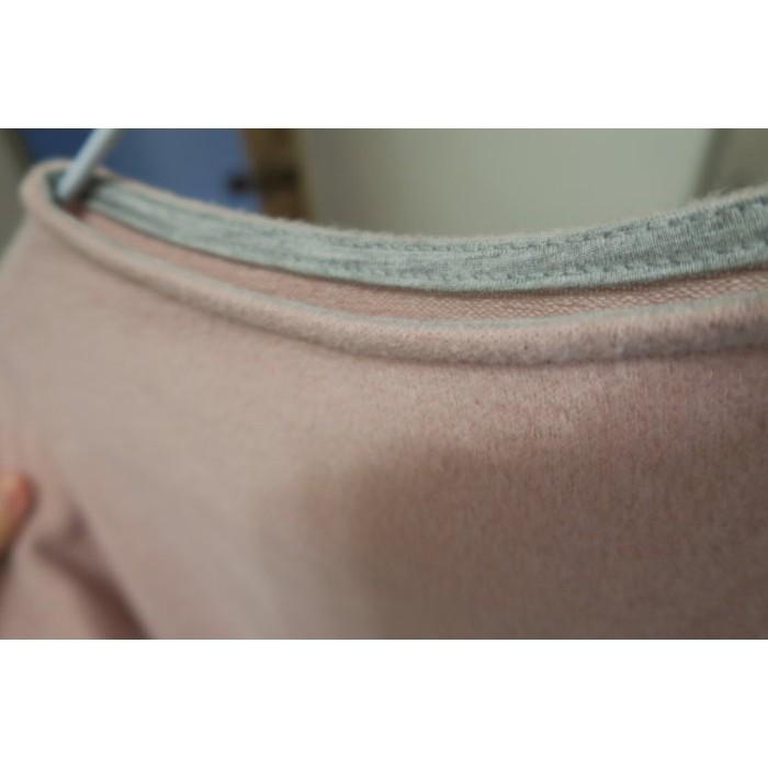 全新轉賣 Vitavira 韓 假高個特殊圓領口毛料洋裝 粉色 D1601043