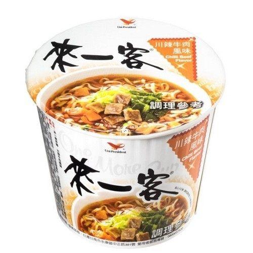 統一 來一客杯麵 川辣牛肉風味 3入 台灣泡麵 統一泡麵 來一客