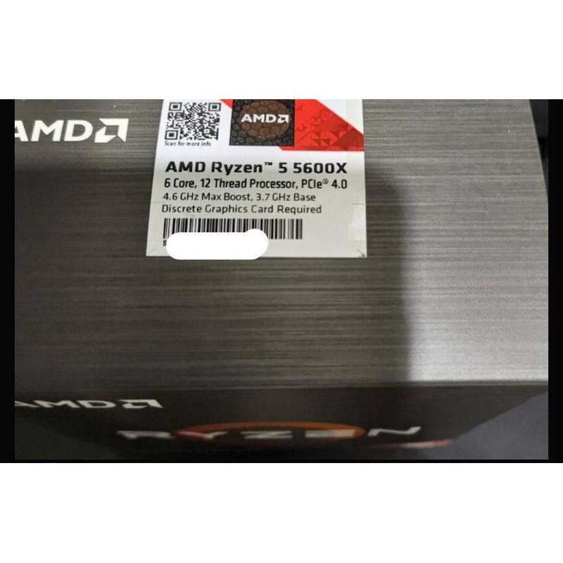 AMD RYZEN 5 5600X 台灣公司貨全新未拆封可刷卡
