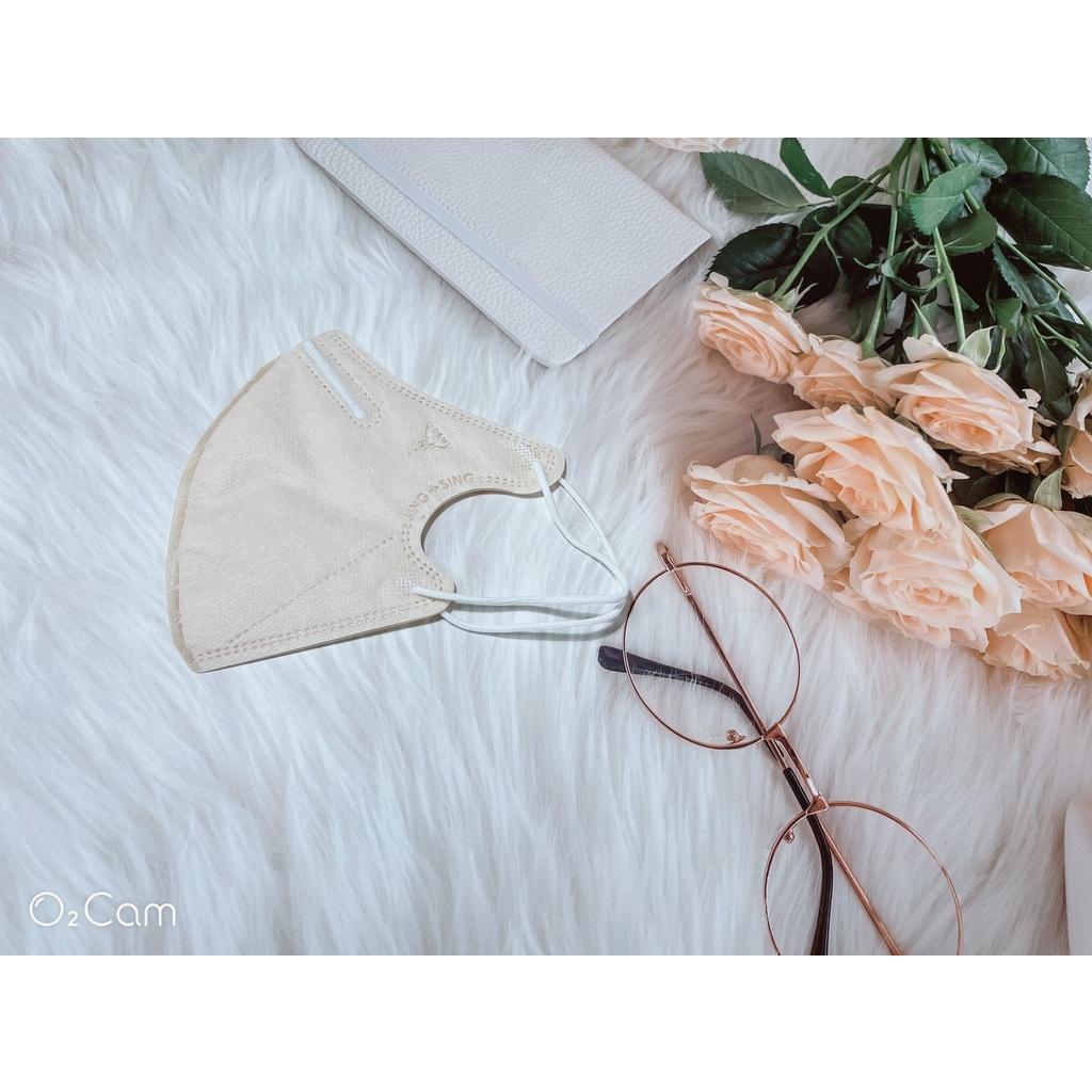 心姿所向商行-【淨新防護口罩】成人3D立體細耳繩10入裝-奶茶色《雙鋼印x台灣製》