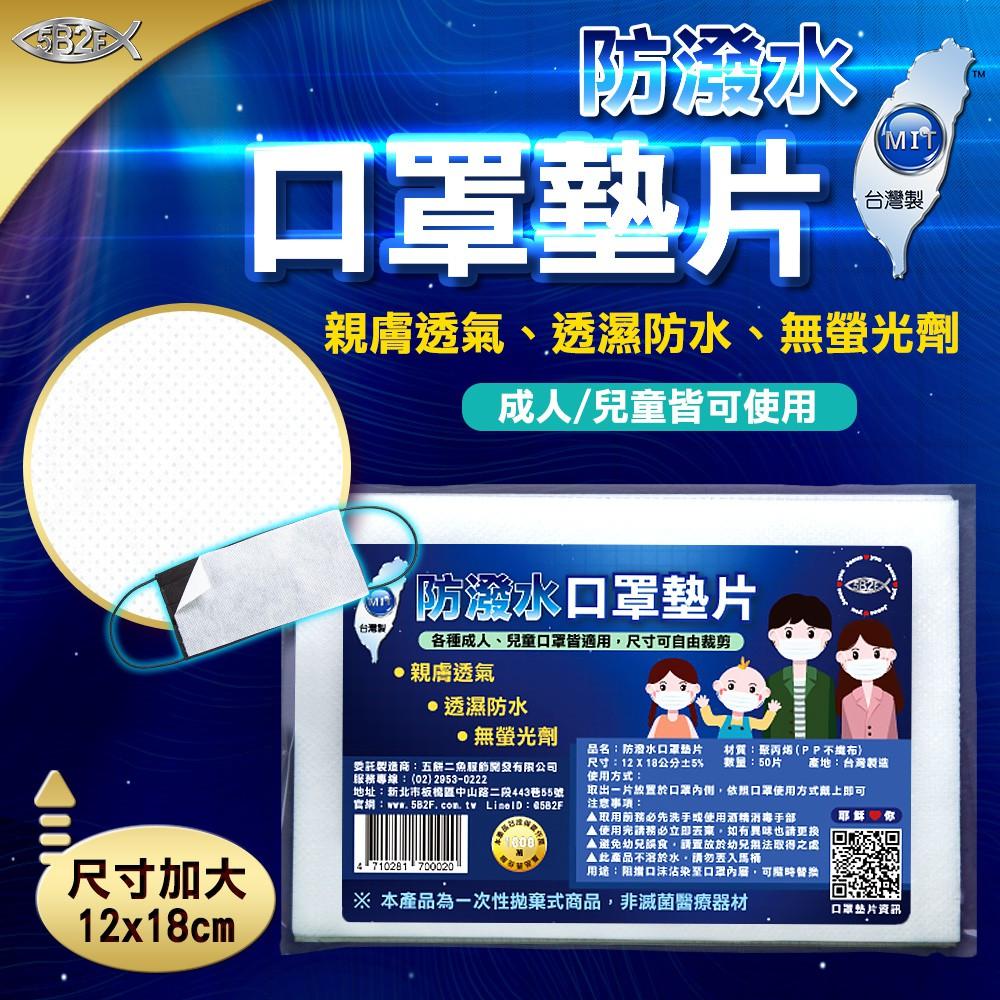 5B2F【五餅二魚】防潑水口罩墊片 台灣製造 MIT 防疫 疫情 肺炎 飛沫 墊片 濾材 可替換