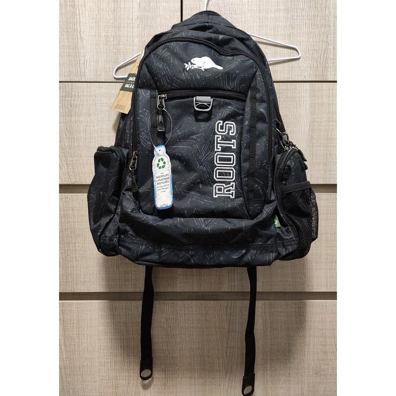 COSTCO好市多 ROOTS 大容量 多功能休閒後背包 雙肩背包 筆電包 電腦包 登山包(黑色)
