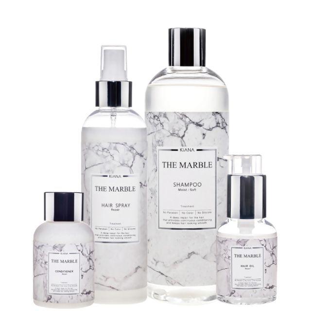 日本KIANA🌸蘊活系列THE MARBLE全系列洗護組/洗髮精+潤澤導入賦沅晶萃 +賦沅菁華