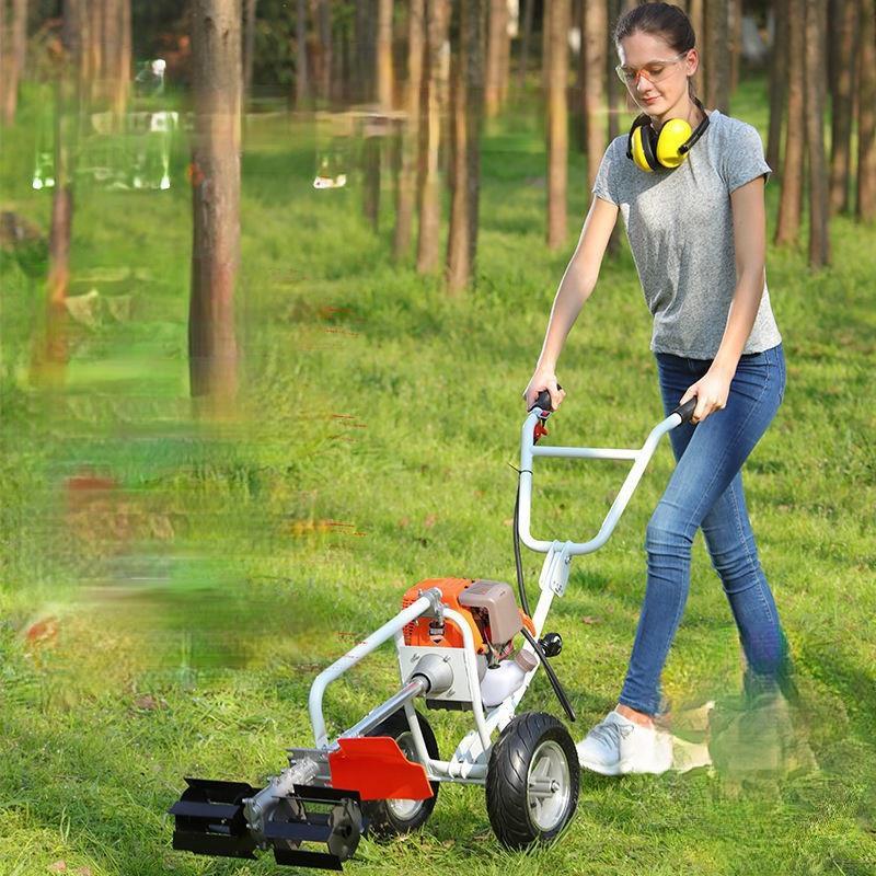 【操作簡單】小型割草機 打草機除草機 修草機 充電式無線割草機 鋰電池割草機 電動割草機 電動除草機 【汽車生活之家】