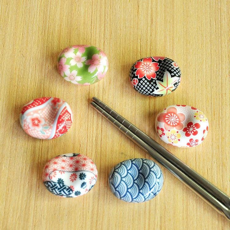 ◐家居餐廚◑10個裝陶瓷元寶筷托筷子托筷架❤
