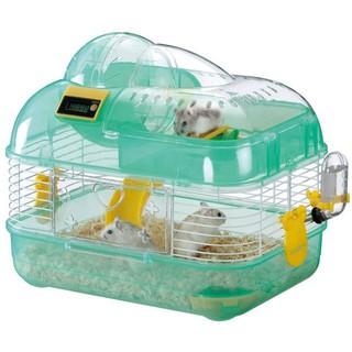 日本 Marukan 可計時 鼠鼠 雙層遊戲屋 M號 綠色 MR-758 鼠玩具 鼠籠 臺北市