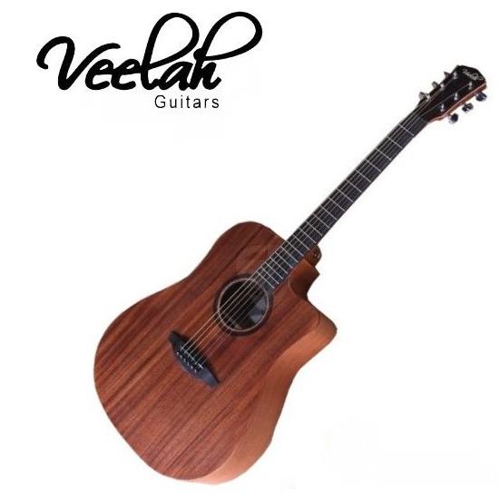 Veelah吉他 V1-DMC 全桃花心木D桶身/面單板/切角 V1DMC 含原廠袋