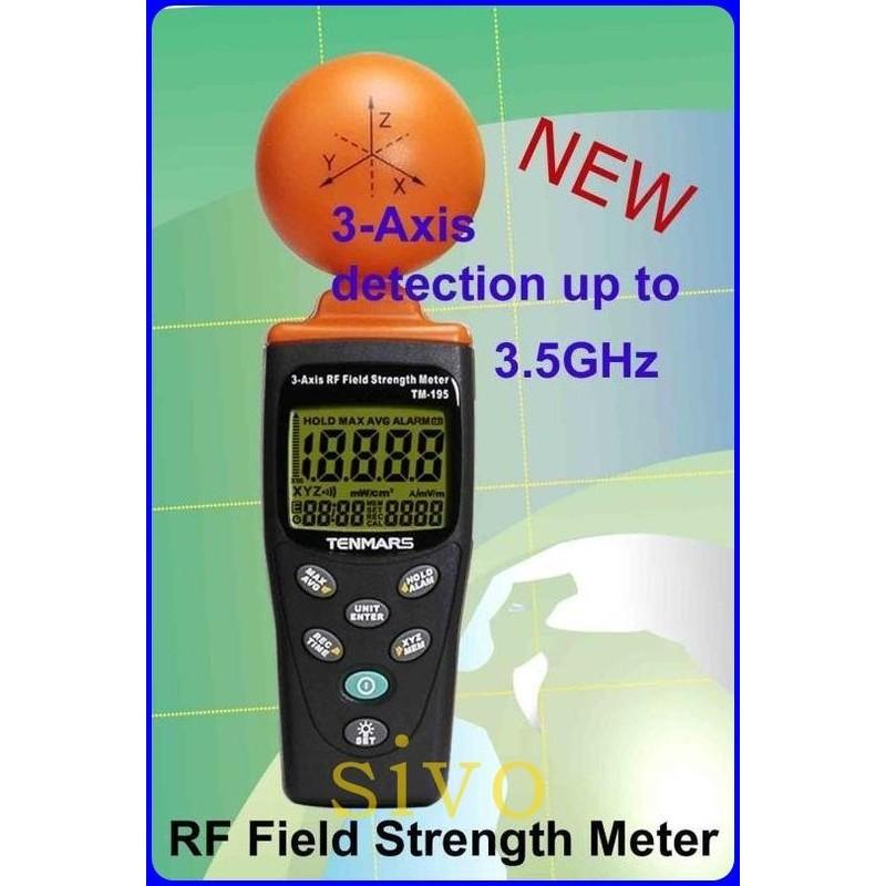 TENMARS TM-195 基地台 高頻電磁波測試器 三軸 高頻電磁波測試器~同TES-92